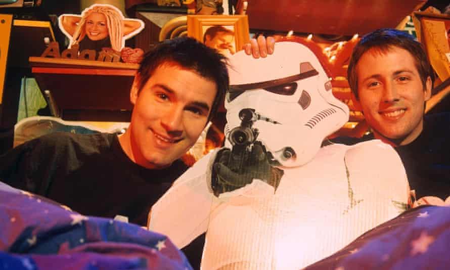 Buxton with Joe Cornish on The Adam and Joe show, 1999.