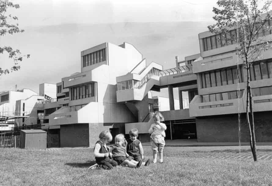 Children play at the freshly built suburb of Thamesmead, south-east London, in 1969.