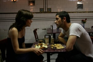 Parker Posey and Melvil Poupaud (L-R) in Broken English, a 2007 American romance film written and directed by Zoe Cassavetes with Posey playing the lovelorn Nora Wilder.