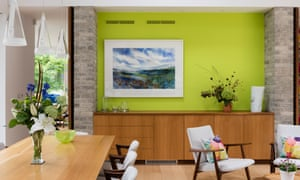'I was careful to limit the colour to small areas': the living area.