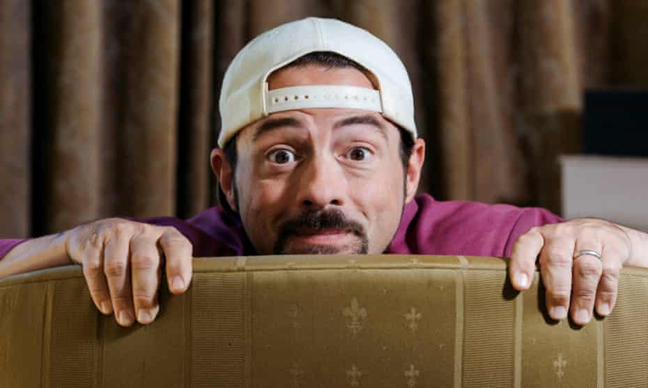 Kevin Smith, who made his name as Silent Bob, at home in Los Angeles.