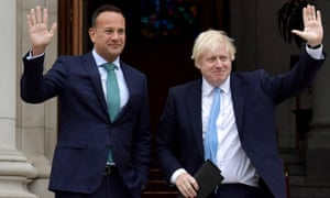 Varadkar and Johnson met for Brexit talks in Dublin on Monday