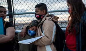 Asylum seekers from Nicaragua at the US-Mexico border. The administration has made dismantling the asylum system a centerpiece of its immigration agenda.