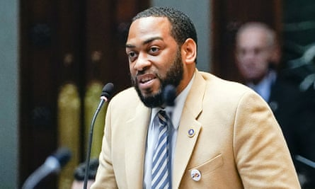 Charles Booker, 35, is a rookie state representative for Louisville's predominantly black West End who advocates for universal basic income, the green new deal and cutting police funding.