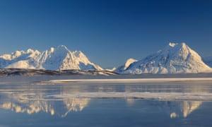 The Lyngen Alps in Breivikeidet, Troms, Norway