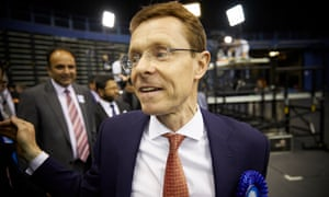 Conservative candidate Andy Street after being elected as the first mayor for the West Midlands combined authority.