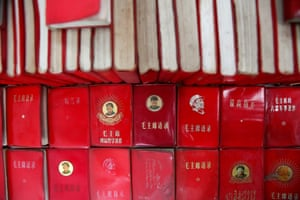Copies of 'Quotations from Chairman Mao Zedong', commonly known as the 'Little Red Book'