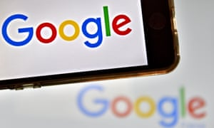 Google logo on smartphone