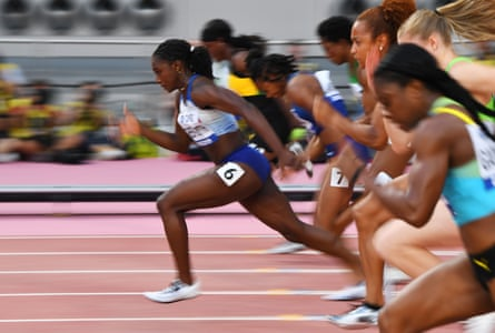 Dina Asher-Smith in action.