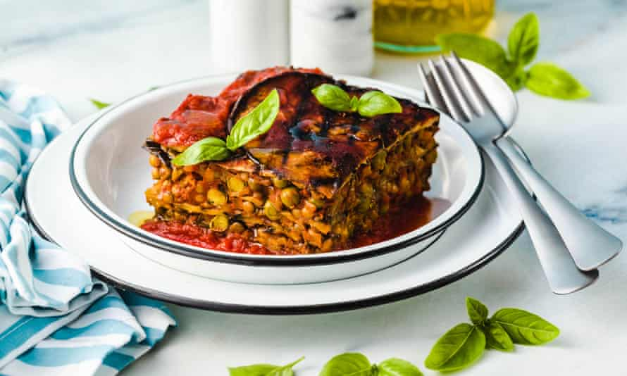 Vegan lasagne … every bit as satisfying as its meatier counterparts.