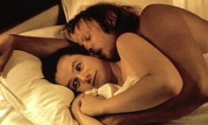 Emily Watson and Stellan Skarsgård in Breaking the Waves.