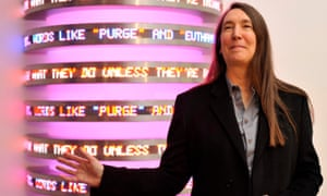 Jenny Holzer, now the subject of the Tate Modern Artist's Rooms section.