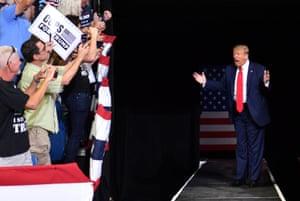 Trump at the BOK Center in Tulsa last week.