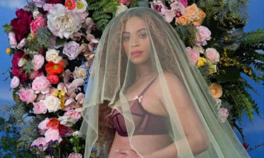 Beyoncé … 'an appealing remix of rococo excesses, Flemish portraiture, and Latin American funerary symbols'.