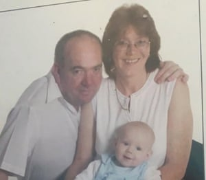 Yvonne Booth from Great Barr in Birmingham, is pictured here with her late husband and her son. The photo was taken around 10 years ago.