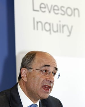 Lord Justice Leveson during the first phone-hacking inquiry