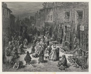 'Dudley Street - Seven Dials.' Jerrold and Doré were both transfixed by the deprivation, squalor and wretchedness of the lives of the poor, even though they realised that London was changing and some of the worst social evils were beginning to be addressed