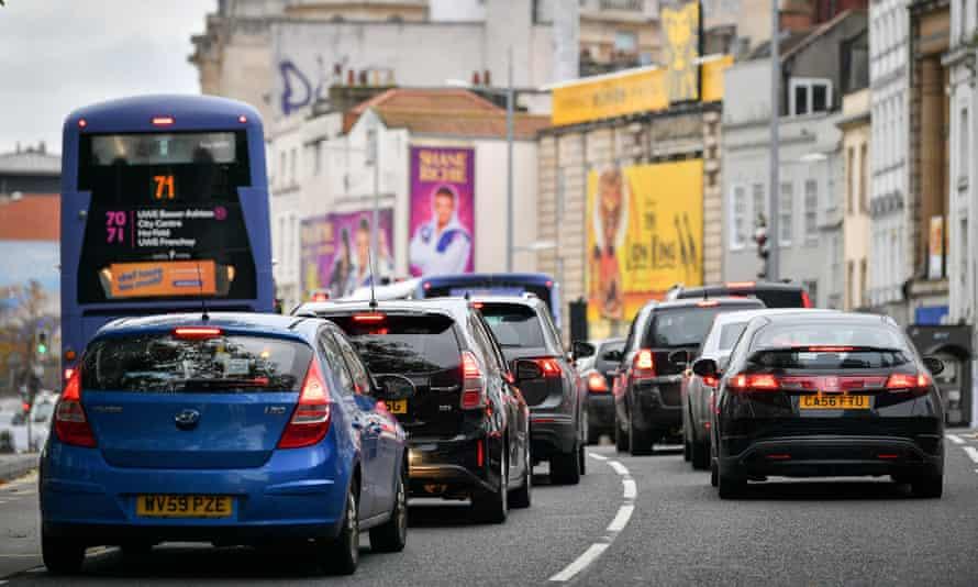 Traffic in Bristol city centre
