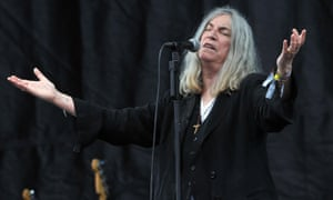 Patti Smith performs on the Pyramid stage.