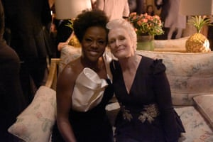 Viola Davis and Glenn Close attend the Netflix After Party at Chiltern Firehouse