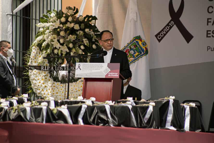 Jorge Islas López, the consul general of Mexico in New York, at the ceremony. He worked with the US and Mexican governments during the pandemic to make sure the remains of people's relatives are repatriated.