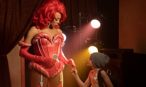 High drama or panto? … RuPaul and Izzy G in AJ and the Queen.
