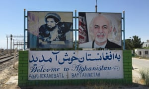 The Afghan and Uzbek border town of Hairatan