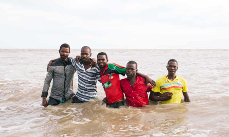 Fishermen left to right: Sacura Alberto, Jose Joao Chimoio, Antonio Silvero Namangero, Damiao Victor and Pedro Peter