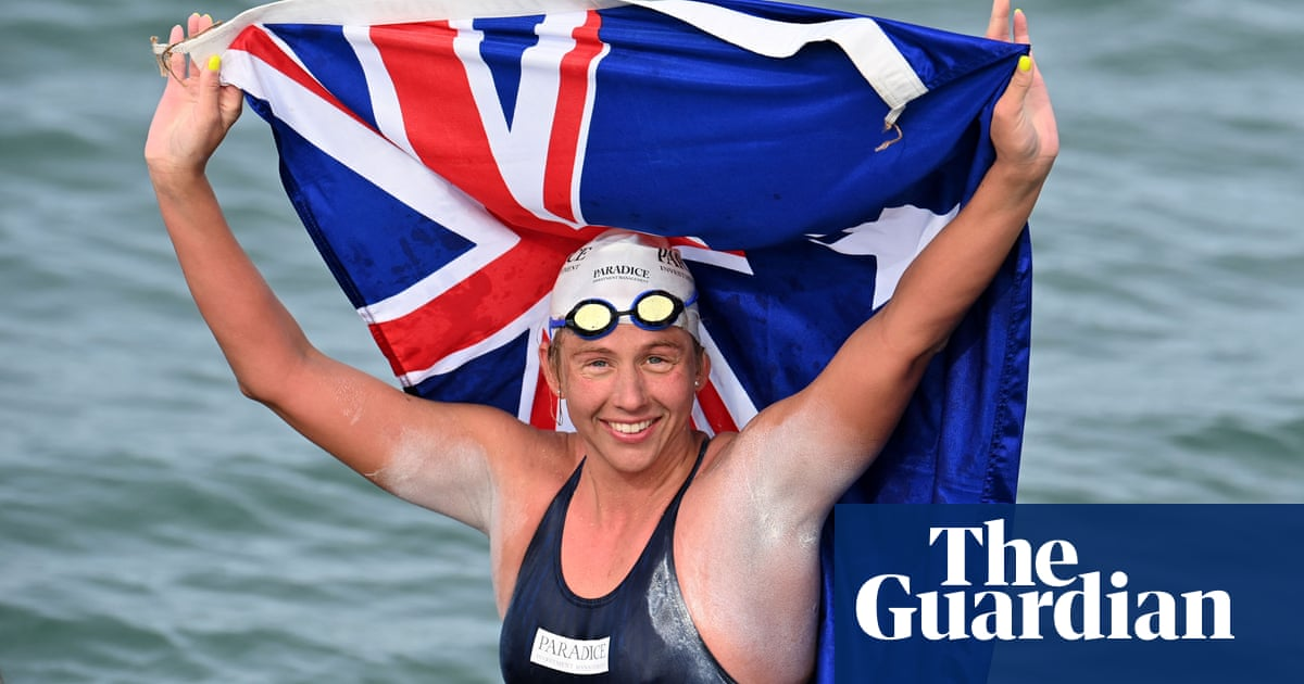 Australian Chloë McCardel sets world record for most swims across the Channel – video