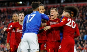 Some final whistle scenes after Liverpool grabbed a 2-1 injury-time win over Leicester.