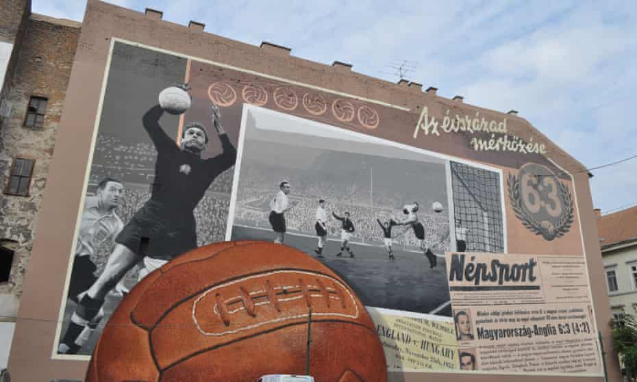 A mural in Budapest celebrating the 1953 match in which Hungary beat England 6-3.