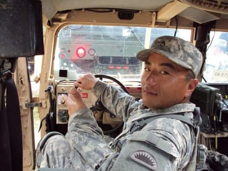 Chong Kim in the US military.