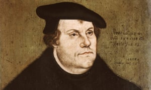 Portrait on beechwood of Martin Luther by Lucas Cranach the Elder, 1530.