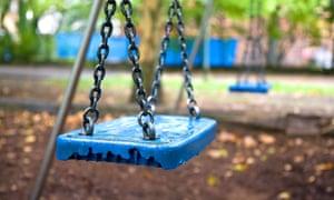 Empty swing in a park