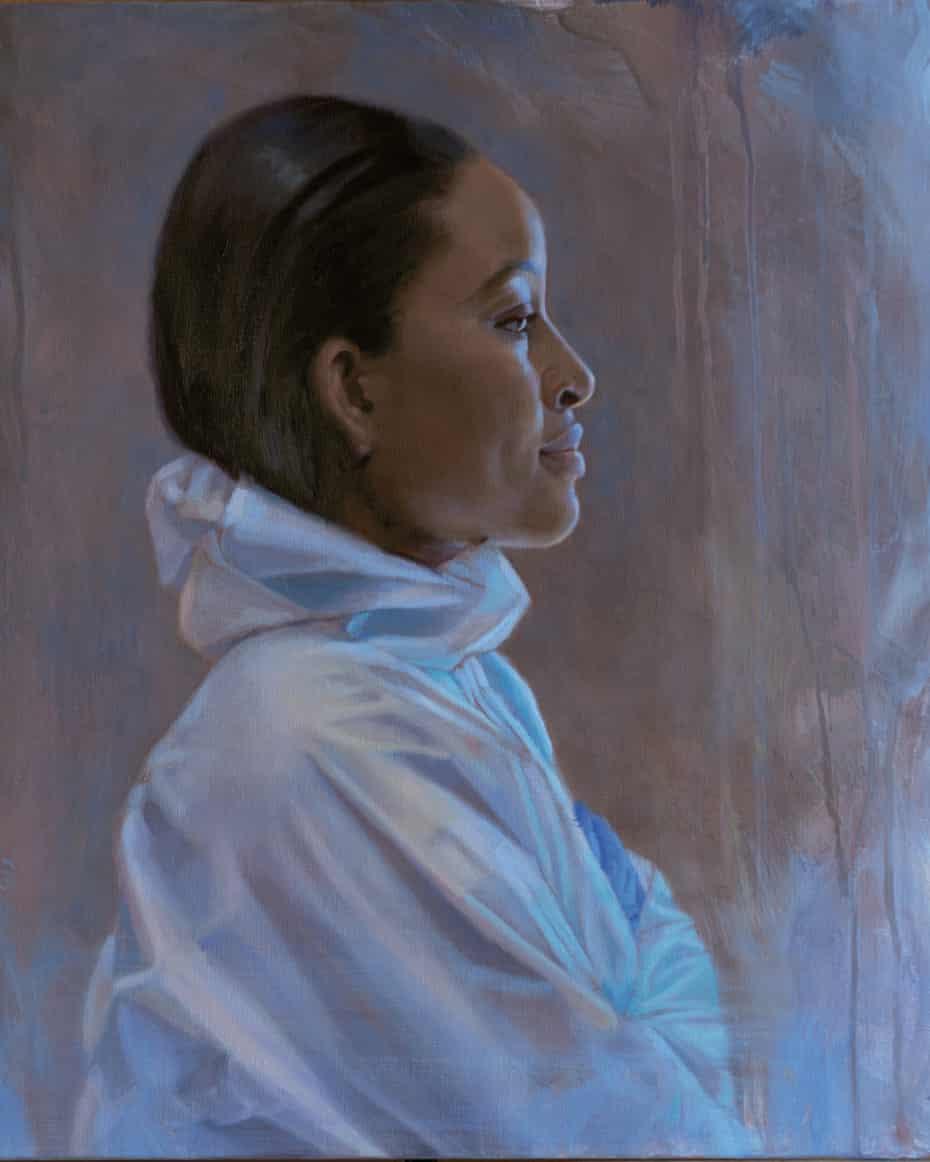 NHS Hero – Dr Sekina Bakare – Intensivist, by Emma Woollard: 'I wanted to portray Sekina's strength, focus and serenity.'