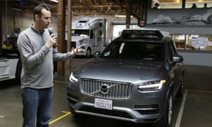 Anthony Levandowski speaks about Uber's driverless car in San Francisco.