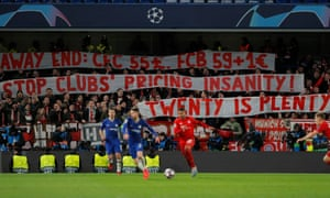 Bayern fans bring some dismal font work to Stamford Bridge.