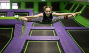 'The adrenaline rush is powerful' … trampoline parks are springing up all over the UK.