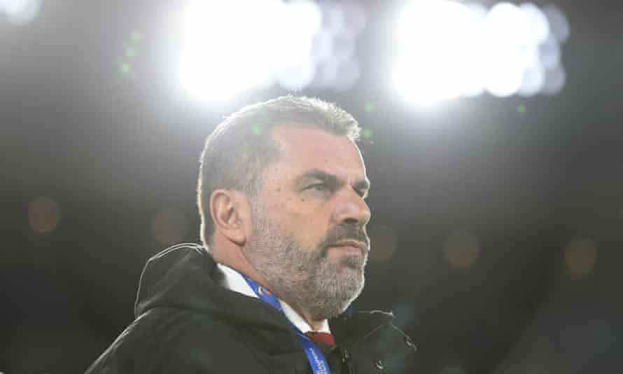 Ange Postecoglou arrives after being in charge of Yokohama F Marinos.