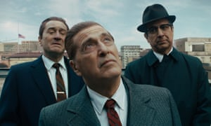Stuttering its way into existence ... from left, Robert De Niro, Al Pacino and Ray Romano in The Irishman.