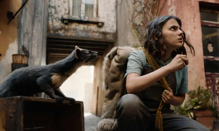 Into the dark … Dafne Keen in the second series of His Dark Materials.