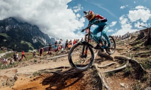 Rachel Atherton competing in last year's World Cup in Austria.