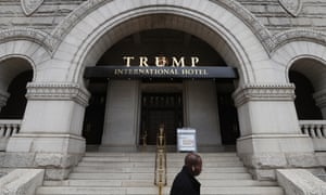 The Trump International Hotel on Pennsylvania Avenue has been the focus of controversy over possible violations of the constitution's emoluments clause.