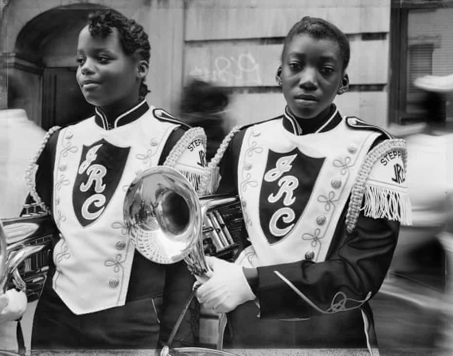 Two Girls from a Marching Band, Harlem, NY 1990, by Dawoud Bey.