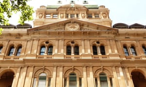 A view of the chief secretary's building in Sydney