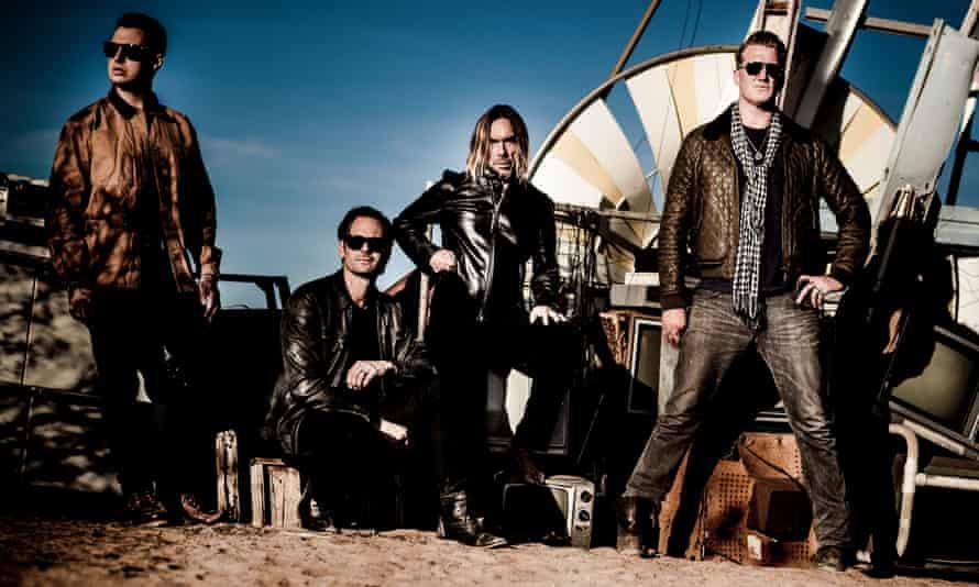 Matt Helder, Dean Fertita, Iggy Pop and Josh Homme