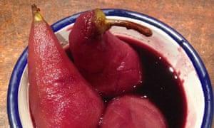 Lindsey Bareham and Simon Hopkinson's poached pears