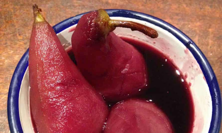 Lindsey Bareham and Simon Hopkinson's poached pears