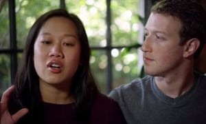 Mark Zuckerberg and wife Priscilla Chan. Zuckerberg has said he wants to build an AI butler for his home