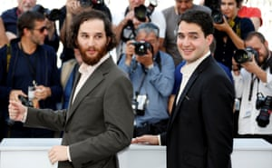 Director and actor Ben Safdie and director Joshua Safdie pose for the photocall of Good Time